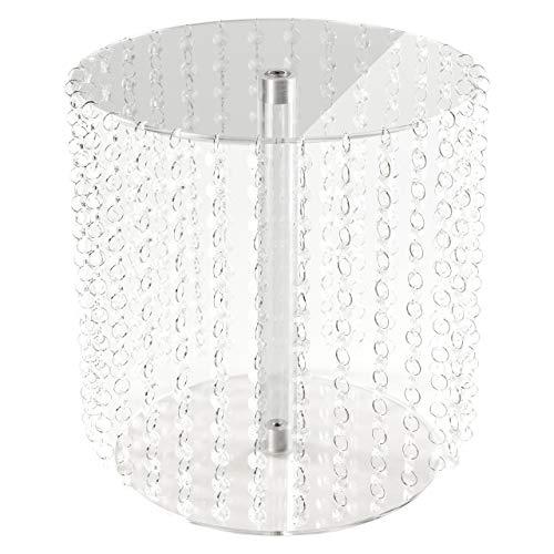 Manschin Laserdesign Acryl Tortenständer Rund Hochzeit einzelne Etagen Etagere Geburtstag Alu Ø 28 cm Durchmesser (Höhe 30cm)