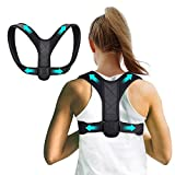 Professional Posture Corrector for Women and Men, ANCROWN Adjustable Upper Back Brace for Posture Correction Back Straightener Brace Posture Fixer for Neck, Back and Shoulder Pain Relief (Universal)
