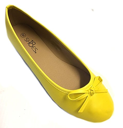 Shoes 18 Womens Ballerina Ballet Flats Shoe 8500 Canary Yellow 8