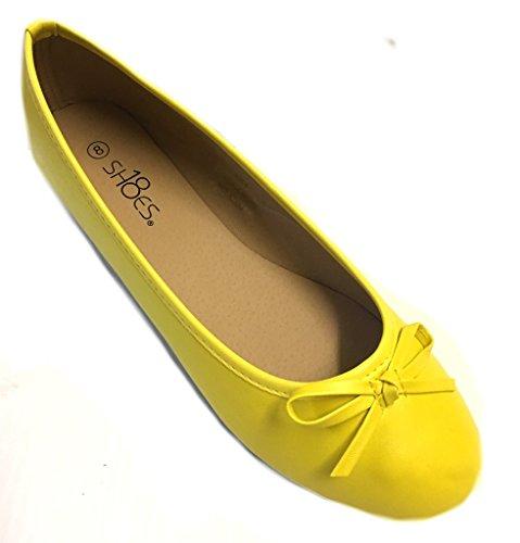 Shoes 18 Womens Ballerina Ballet Flats Shoe 8500 Canary Yellow 9