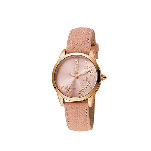 Orologio Just cavalli rosa moda donna pelle classico JC1L042L0035