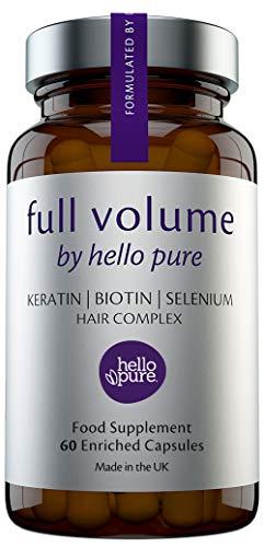 Hair Growth Vitamins For Women & Men – Biotin (Vitamin B7) Supplement...