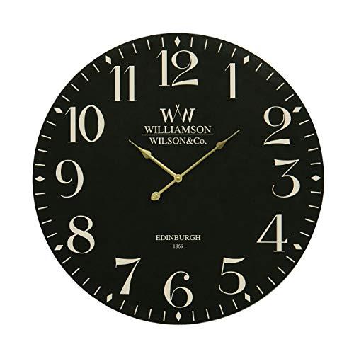 Premier Housewares Klassische Wanduhr, 60 cm, schwarz