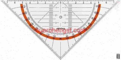 rOtring S0237630 Centro-Geometrie-Dreieck, 16cm