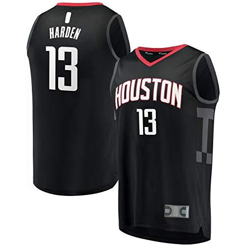 HFHDF Jersey de baloncesto Sportswear Mesh Outdoor #13 Fast Break Jersey Negro - Declaración Edición