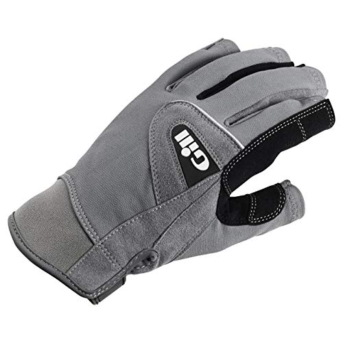 Gill 2017 Deckhand Short Finger Glove 7042, Grey, XXL