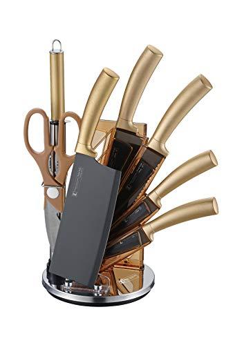Imperial Collection 8-Teiliges Messerset Mit Ständer Küchenmesser Set Messerblock Extra scharf