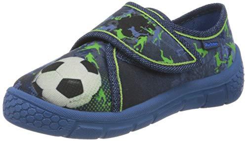 Richter Kinderschuhe Jungen Niedrige Hausschuhe, Blau (Nautical (Soccer) 6820), 30 EU