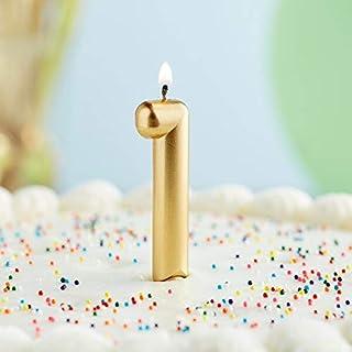 شمعة عيد ميلاد على شكل رقم 1 من كرياتيف كونفيرتينغ لون ذهبي