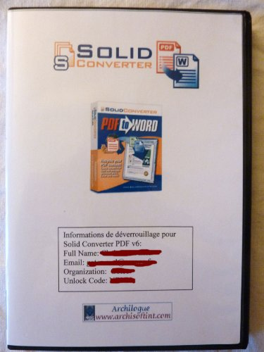 Solid Converter Pdf vers Word Doc v6 FR CD