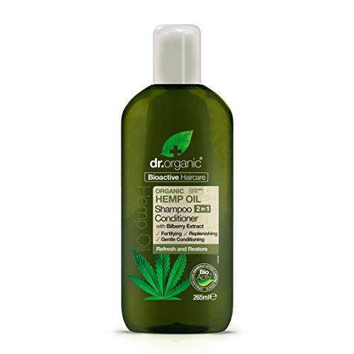 Dr. Organic 2 in 1 Haarshampoo und -spülung Hemp Oil 265 ml, Preis/100 ml: 3.59 EUR