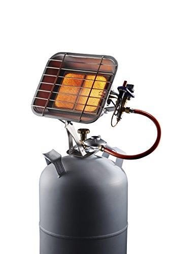CFH Radiateur à gaz HS 4400 P, 52952, Argent, 11 x 24 x 33,5 cm