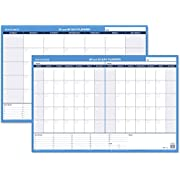 AT-A-GLANCE Wall Planner / Calendar, Undated, Erasable, 30/60-Day, 36 x 24, White/Blue (PM233-28)