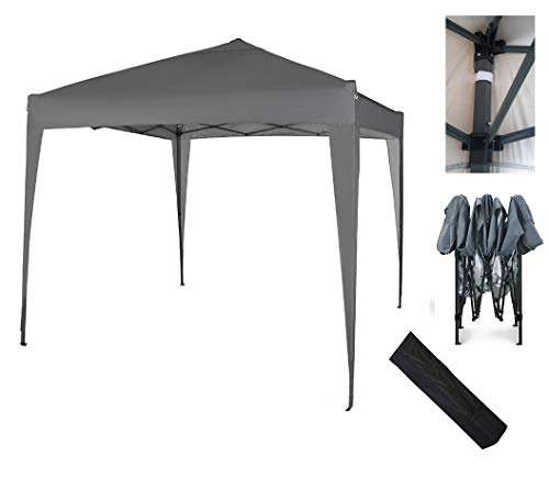 MCC - 2x2m Pop-up Gazebo Waterproof Outdoor Garden Marquee Canopy (NS) (Grey)