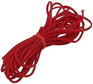 eDealMax 3 mm Diámetro apretado trenzado PET Funda extensible Cable Wire Wrap vaina roja 5M