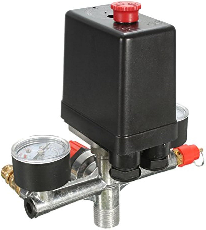 Non Adjustable 125psi 2 Phase Compressor Pressure Switch Air Valve Gauge Control Relief 230V 1 Port Hot Sale