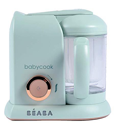 BÉABA - Babycook Solo, Cuocipappa Omogeneizzatore, Cottura a Vapore, Robot per Pappe 4 in 1 : Mixer + Cottura, Neonato e Bambino, Made in France, Matcha