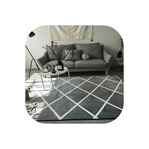 Fashion Living Room Bedroom Decorative Carpet Area Rug Floor Bathroom Foot Yoga Play Mat Polka Dots Chevron Yellow Star Cartoon,4,150x195cm