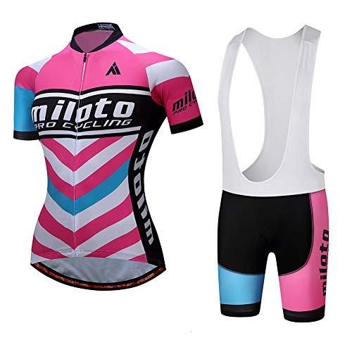 Ydshyth Conjunto Ropa Equipacion Ciclismo Maillot Manga Corta y Culotte Pantalones Cortos con 3D Gel Pad para Deportes al Aire Libre Ciclo Bicicleta,C,XS