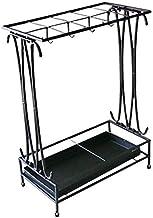 YAeele Paraplubak Modern Black Metal houder Storage Rack met afneembare Base Lekbak 24 * 44 * 60cm Paraplubak