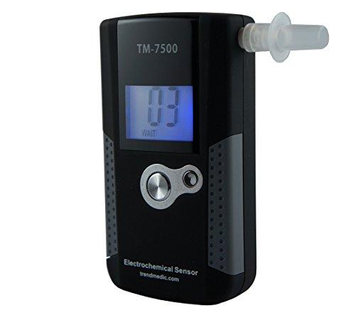 Trendmedic Alkoholtester TM-7500 - Digitaler Atemalkohol-Tester mit elektrochemischen Sensor - polizeigenau - Anzeige in Promille