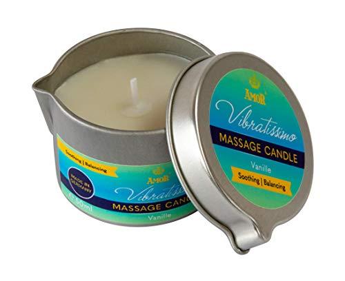 """Amor Vibratissimo® Massagekerze \""""Vanille\"""", 50ml, in attraktiver Dose mit Ausgießer"""