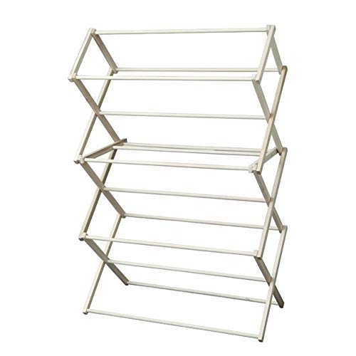 Peaceful Classics Foldable Wooden Clothes Drying Rack, Handmade Collapsible Racks for Hanging Laundry, Wash Cloths, or Towels