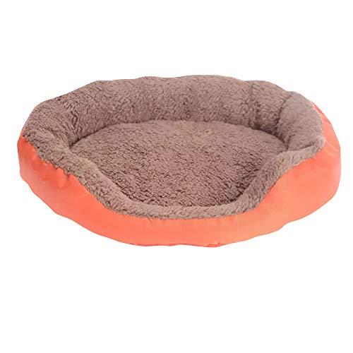 Cesta para Mascotas de Felpa 4 Colores Diferentes y 3 tamaños - Lavable y Resistente a los arañazos casa para los Perros y Gatos (Style 4, L)