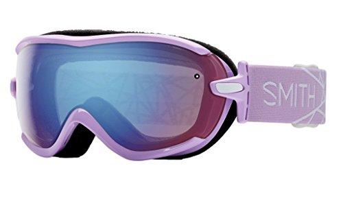 Smith Optics Virtue Women's Spherical Series Snow Snowmobile Goggles Eyewear - Blush/Blue Sensor Mirror/Small