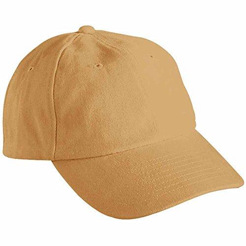 MYRTLE BEACH - Casquette visière Unie 6 Panneaux Coton - MB6111 - Camel - Mixte Adulte