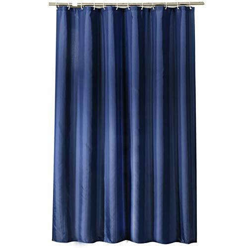 Verdickter Duschvorhang Wasserdicht Öko-Freund Solid Navy Blue Elegant SchnelltrocknendFür Badezimmer Waschraum nach Hause