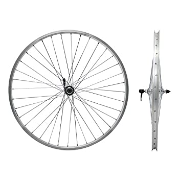 LILYPELLE Front Bicycle Wheel 24/26 x 1.75/2.125 36 Spokes Silver Steel Bike Front Rim Set