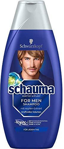 Schauma For Men Shampoo Kraftvolles Volumen mit Hopfen-Extrakt, 400 ml