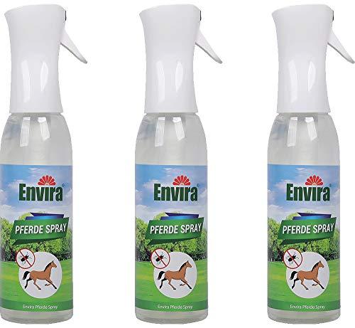 ENVIRA 3x600ml Pferde-Spray Parasiten-Spray Pferd Insektenschutz für Pferde gegen Ungeziefer Fliegenspray Pferd