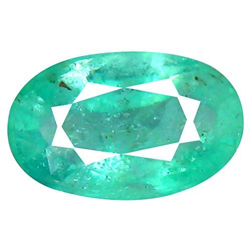 Smeraldo colombiano, taglio ovale da 0,94 ct (8 x 5 mm)