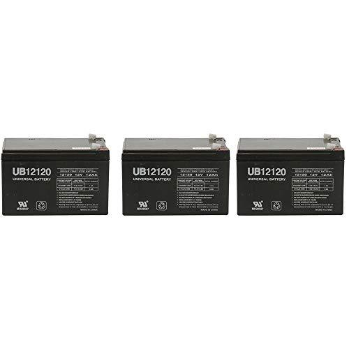 12V 12AH SLA Battery for Razor E500S/ MX500/ MX650-3 Pack