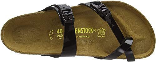 Birkenstock Mayari Birko-flor Patent, Damen Zehentrenner, Schwarz (Schwarz Lack), 39 EU (5.5 UK)