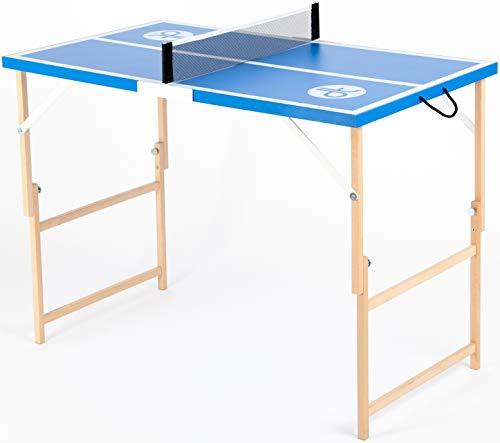 DISH TENNIS Mini Tischtennisplatte blau Dein blaues Wunder