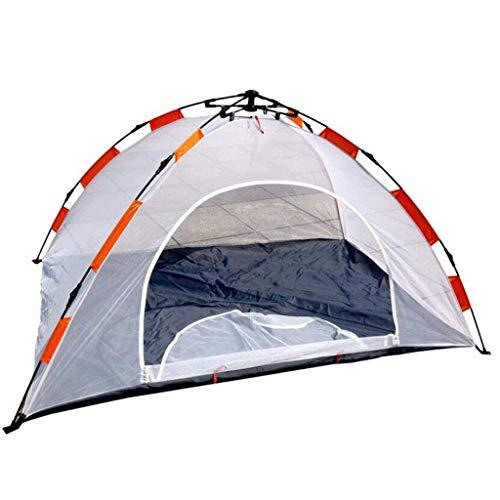 Nuokix Camping-Zelt, Zelt Outdoor-Zelte Camping Zelten All-Netto-Netto-Zelte einlagig Konten Frei gebaut Geschwindigkeit öffnende Anti-Moskito-Innenzelte (Farbe: weiß)