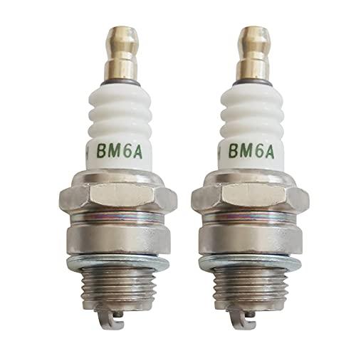 mlloaayo 2 bujías BM6A, Piezas de Repuesto de Repuesto para Motores pequeños, Accesorios estándar para automóviles, Pueden reemplazar M7 / L7T / CJ8 / 1560