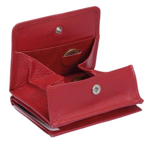 LEAS Wiener Schachtel mit RFID Schutz Echt-Leder, rot Special Edition