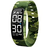 Niceline Kids Fitness Tracker Watch, Activity Tracker Pedometer Watch with Alarm Calorie Step Counter Sport Bracelet Gift for Girls Boys Teens (Camouflage Green)