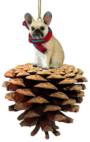 Conversation Concepts French Bulldog Fawn Pinecone Pet Ornament