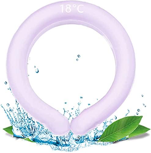 Tubo de enfriamiento helado para el cuello, anillo de enfriamiento para el cuello, prevención de insolación en verano, tubo de protección contra el hielo, tubos de enfriamiento (Púrpura)
