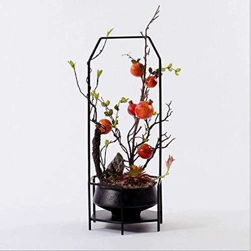 Interior Flowers Artificial Decorativa Decorativa flores artificiales Zen chino artificial arte de la flor, con la cerámica florero de mesa centros de mesa, for Comedor Roon Decoración de la mesa de l