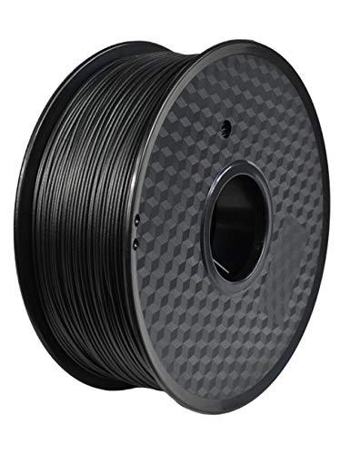 3D-Druckerfilament 1,75mm, PETG-Kohlefasermaterial, Antistatik und Anti-Interferenz, mattschwarz, 1kg Spule