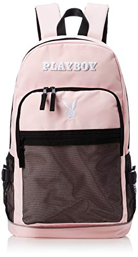 [プレイボーイ] リュック メッシュポケット かわいい シンプル 通学 通勤 おしゃれ 流行り PL-MBBK144 ライトピンク One Size
