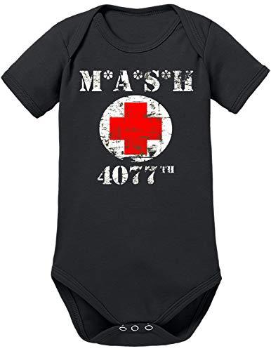 TShirt-People MASH 4077 Baby Body 74 Schwarz