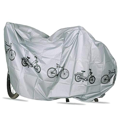 Cubiertas para Bicicletas Polvo Lluvia Protección UV Impermeable de la Cubierta de la Bicicleta de Interior al Aire Libre el Gris para Actividades al Aire Libre