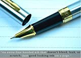 Dryden Designs Fine Nib Fountain Pen - SILVER - Included two Ink Converters and two Fine Nibs, Luxury Fountain Pens - Consistent Ink Flow